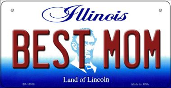 Best Mom Illinois Novelty Metal Bicycle Plate BP-10318