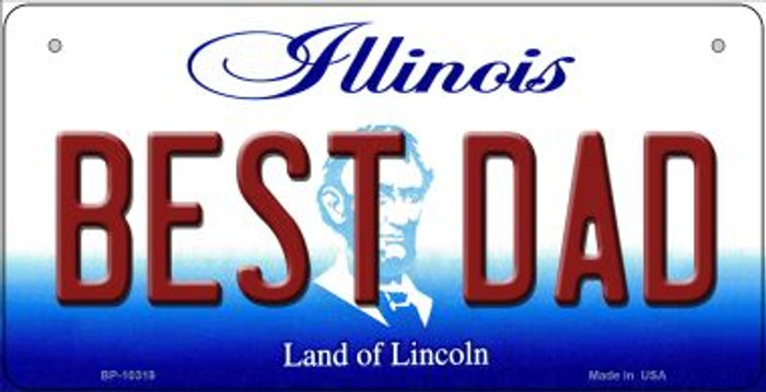 Best Dad Illinois Novelty Metal Bicycle Plate BP-10319