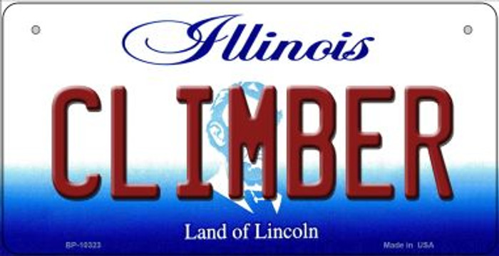Climber Illinois Novelty Metal Bicycle Plate BP-10323