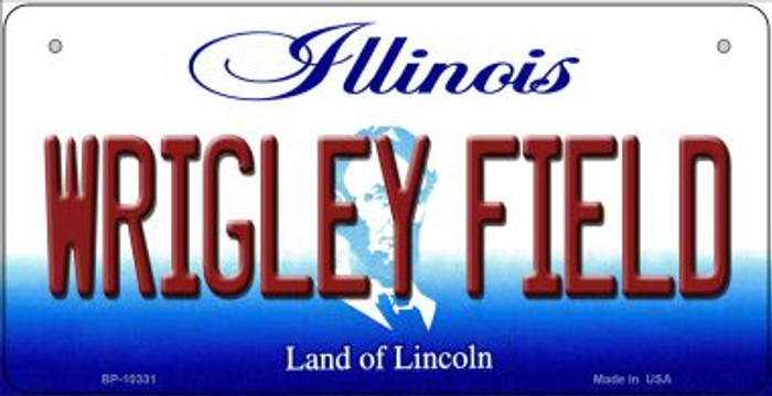 Wrigley Field Illinois Novelty Metal Bicycle Plate BP-10331