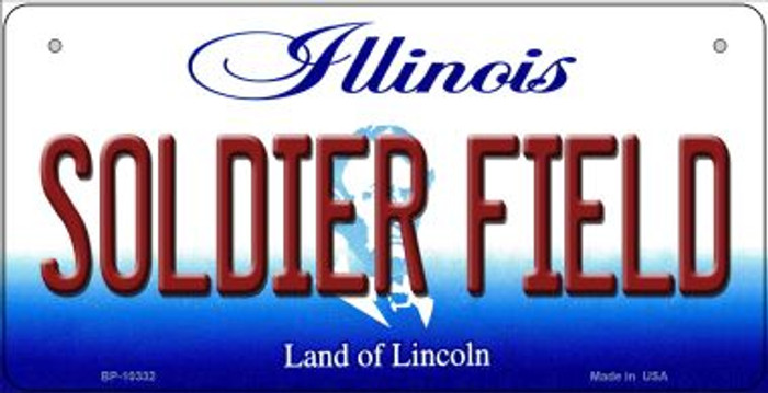 Soldier Field Illinois Novelty Metal Bicycle Plate BP-10332