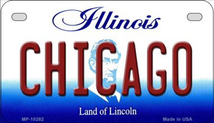 Chicago Illinois Novelty Metal Motorcycle Plate MP-10282