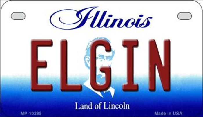 Elgin Illinois Novelty Metal Motorcycle Plate MP-10285