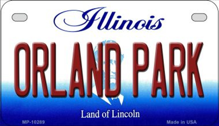 Orland Park Illinois Novelty Metal Motorcycle Plate MP-10289