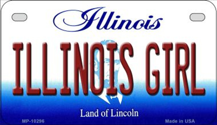 Illinois Girl Novelty Metal Motorcycle Plate MP-10296