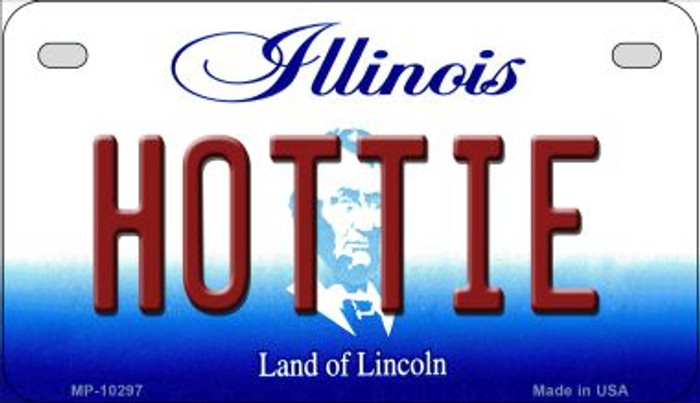 Hottie Illinois Novelty Metal Motorcycle Plate MP-10297