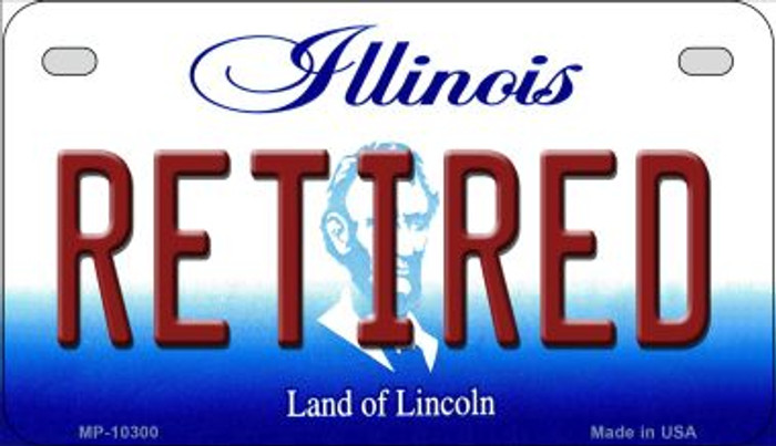 Retired Illinois Novelty Metal Motorcycle Plate MP-10300