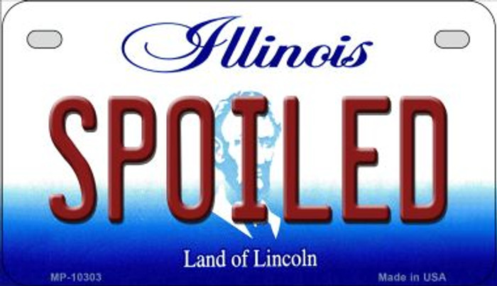 Spoiled Illinois Novelty Metal Motorcycle Plate MP-10303