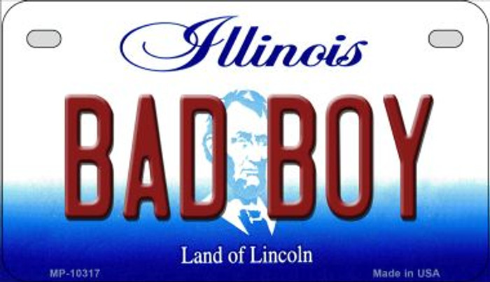 Bad Boy Illinois Novelty Metal Motorcycle Plate MP-10317