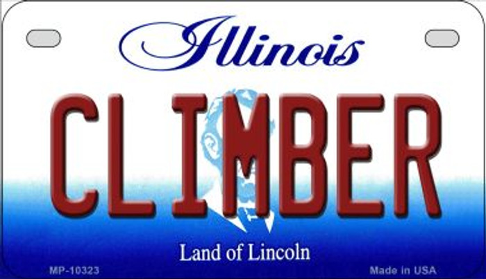 Climber Illinois Novelty Metal Motorcycle Plate MP-10323