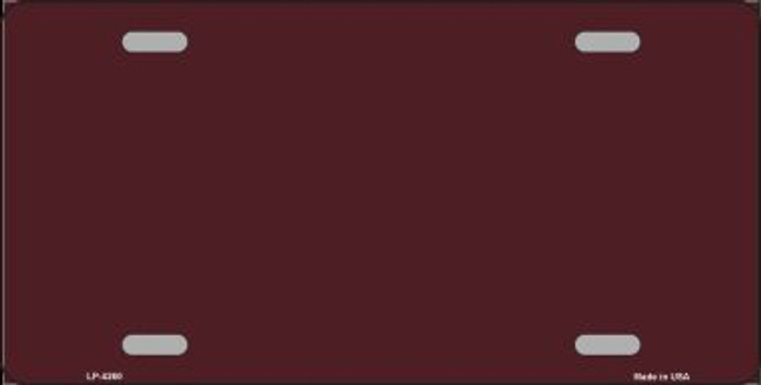 Burgundy Background Metal Novelty License Plate LP-4260