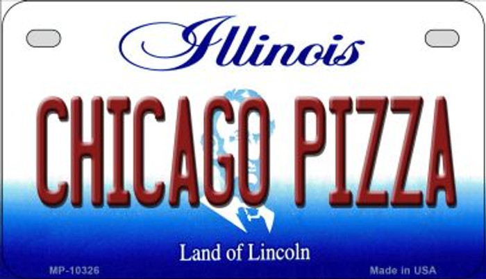 Chicago Pizza Illinois Novelty Metal Motorcycle Plate MP-10326
