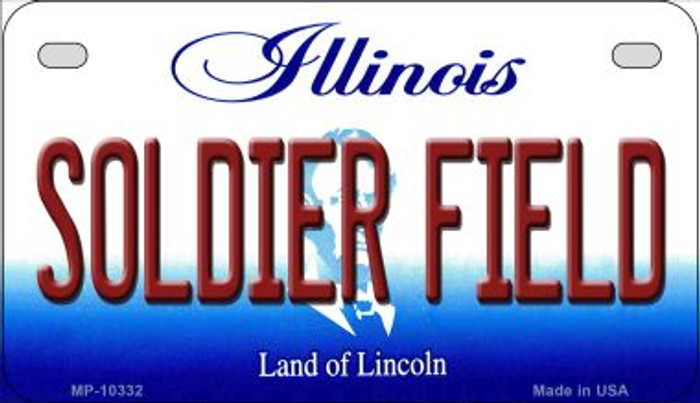 Soldier Field Illinois Novelty Metal Motorcycle Plate MP-10332