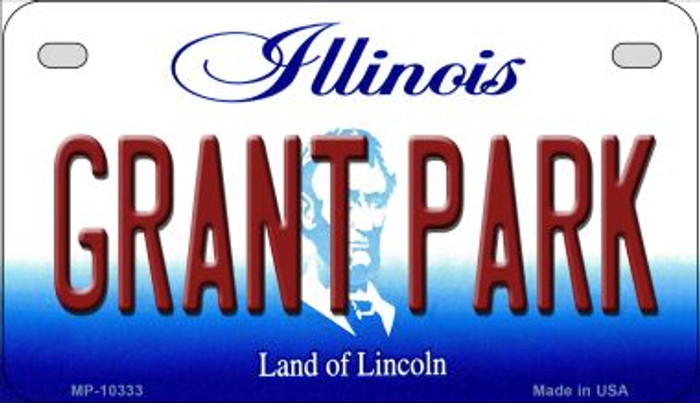 Grant Park Illinois Novelty Metal Motorcycle Plate MP-10333