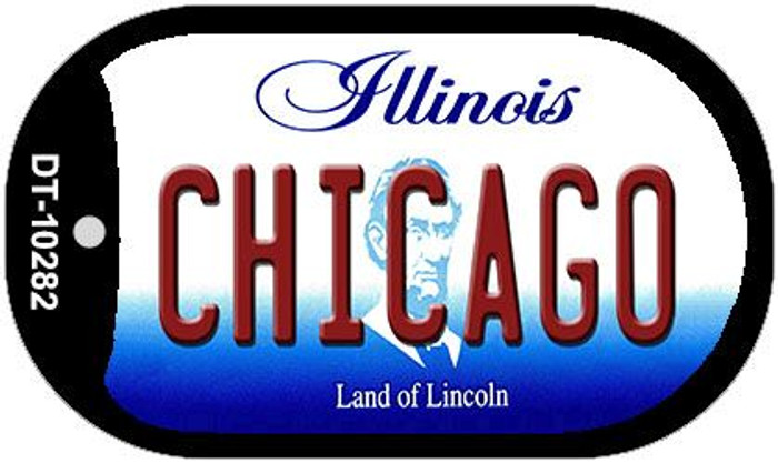 Chicago Illinois Novelty Metal Dog Tag Necklace DT-10282