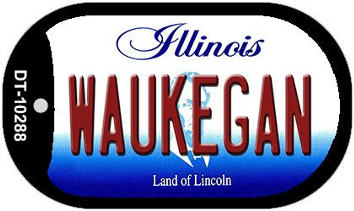 Waukegan Illinois Novelty Metal Dog Tag Necklace DT-10288