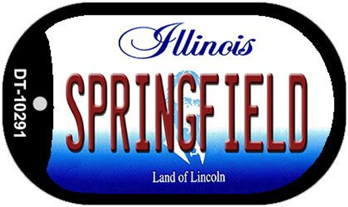 Springfield Illinois Novelty Metal Dog Tag Necklace DT-10291