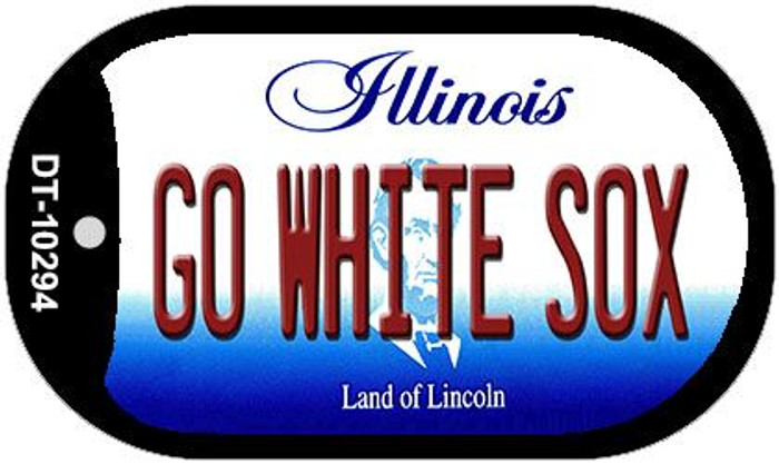Go White Sox Illinois Novelty Metal Dog Tag Necklace DT-10294