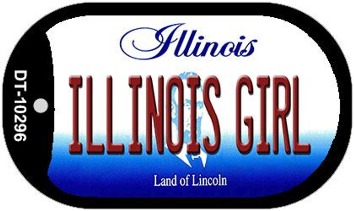Illinois Girl Novelty Metal Dog Tag Necklace DT-10296