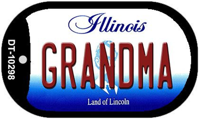 Grandma Illinois Novelty Metal Dog Tag Necklace DT-10298