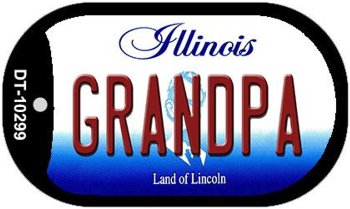 Grandpa Illinois Novelty Metal Dog Tag Necklace DT-10299