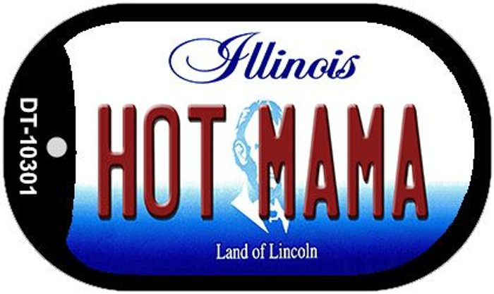 Hot Mama Illinois Novelty Metal Dog Tag Necklace DT-10301