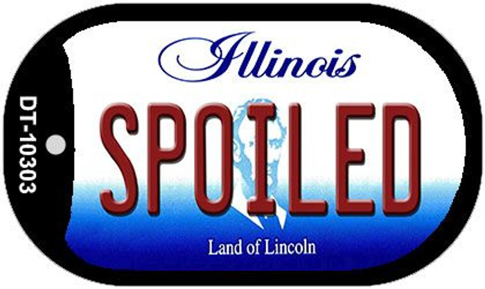 Spoiled Illinois Novelty Metal Dog Tag Necklace DT-10303