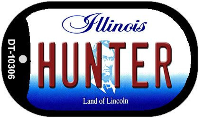 Hunter Illinois Novelty Metal Dog Tag Necklace DT-10306