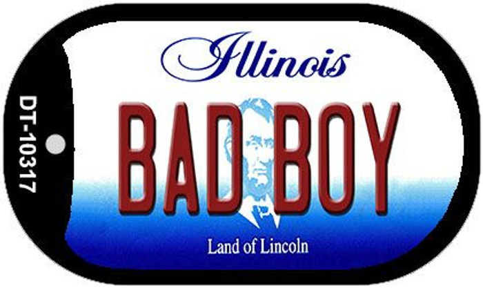 Bad Boy Illinois Novelty Metal Dog Tag Necklace DT-10317