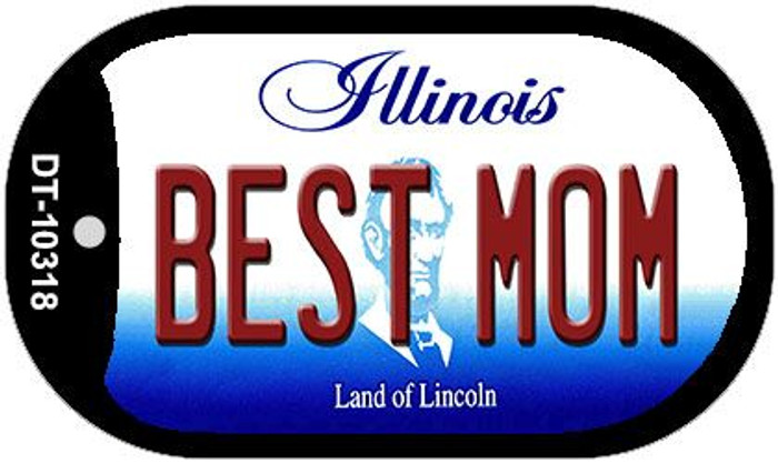 Best Mom Illinois Novelty Metal Dog Tag Necklace DT-10318