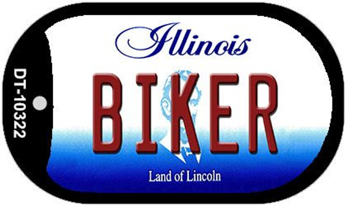 Biker Illinois Novelty Metal Dog Tag Necklace DT-10322