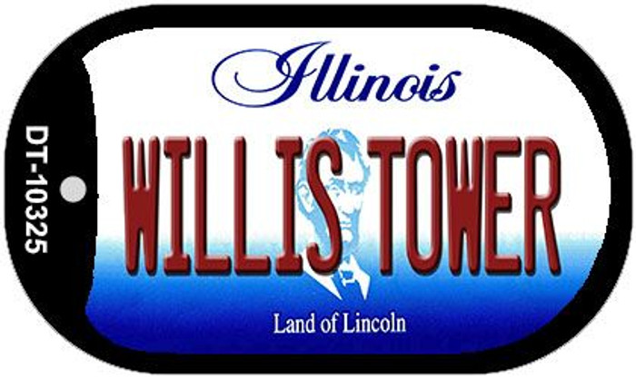 Willis Tower Illinois Novelty Metal Dog Tag Necklace DT-10325