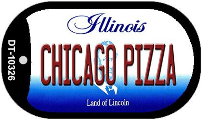 Chicago Pizza Illinois Novelty Metal Dog Tag Necklace DT-10326