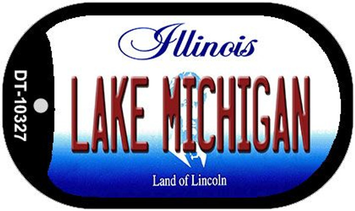 Lake Michigan Illinois Novelty Metal Dog Tag Necklace DT-10327