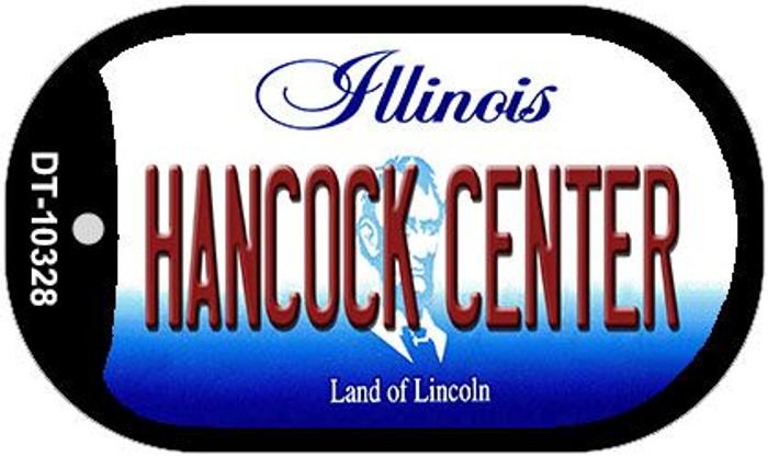 Hancock Center Illinois Novelty Metal Dog Tag Necklace DT-10328