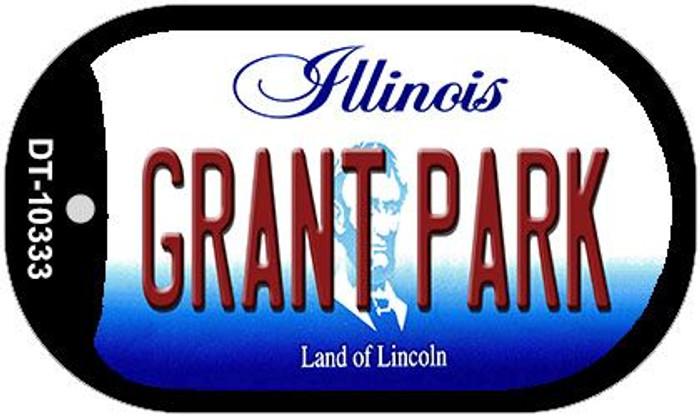 Grant Park Illinois Novelty Metal Dog Tag Necklace DT-10333