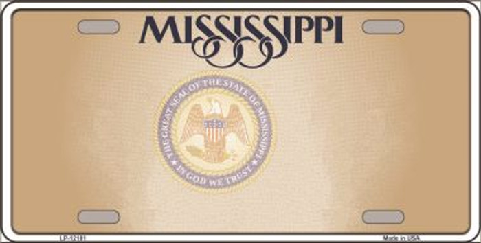 Mississippi Great Seal Blank Novelty Metal License Plate LP-12181