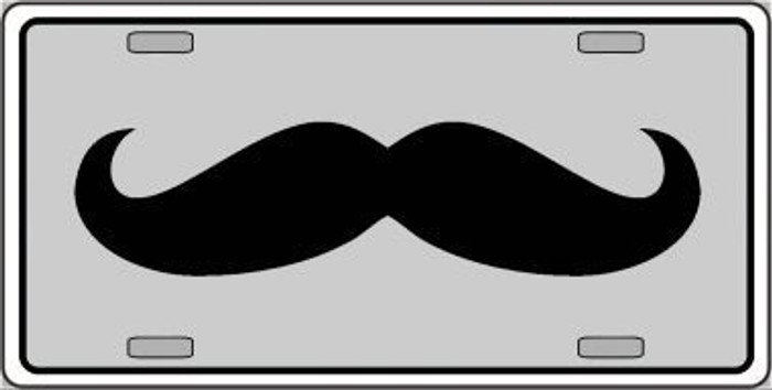 Mustache Novelty Metal Novelty License Plate LP-4268