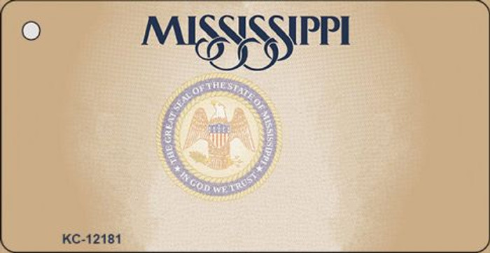 Mississippi Great Seal Blank Novelty Metal Key Chain KC-12181