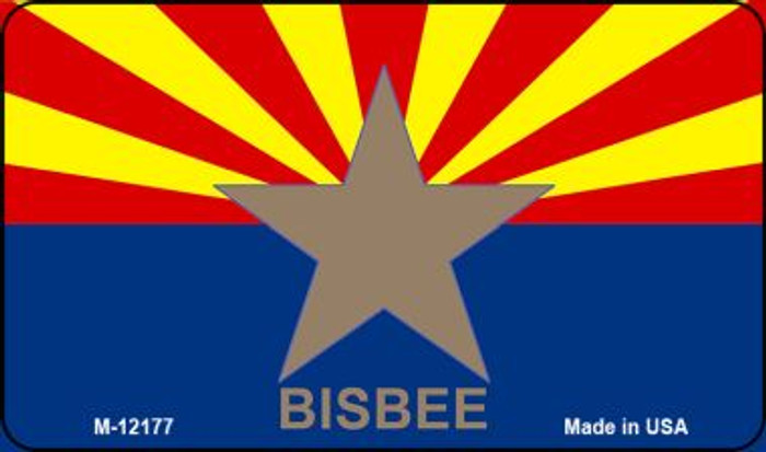 Bisbee Arizona Flag Novelty Metal Magnet M-12177