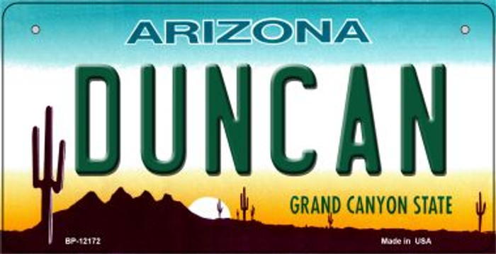 Duncan Arizona Novelty Metal Bicycle Plate BP-12172