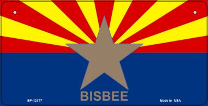 Bisbee Arizona Flag Novelty Metal Bicycle Plate BP-12177