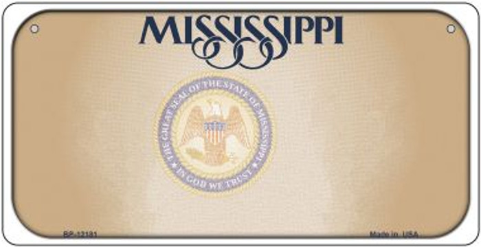Mississippi Great Seal Blank Novelty Metal Bicycle Plate BP-12181