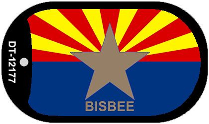 Bisbee Arizona Flag Novelty Metal Dog Tag Necklace DT-12177