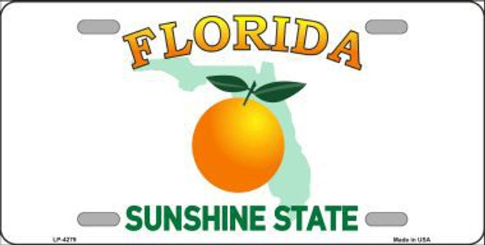 Florida Novelty State Background Metal License Plate LP-4279