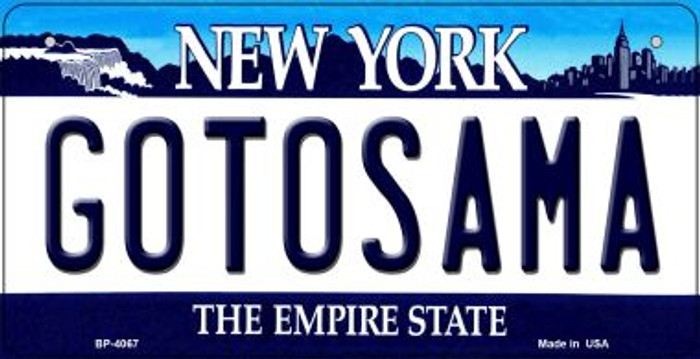 Gotosama New York Novelty Metal Bicycle Plate BP-4067