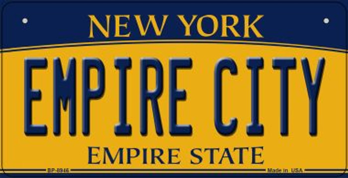 Empire City New York Novelty Metal Bicycle Plate BP-8946