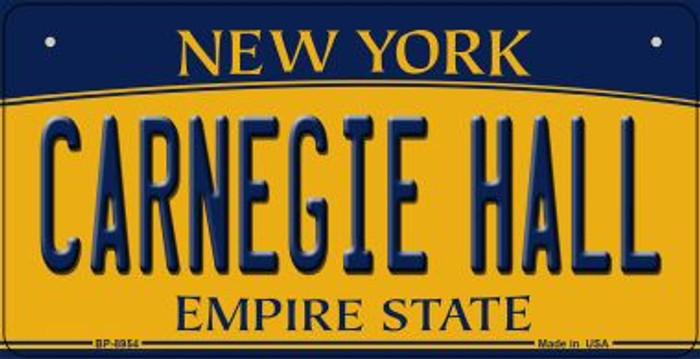 Carnegie Hall New York Novelty Metal Bicycle Plate BP-8954