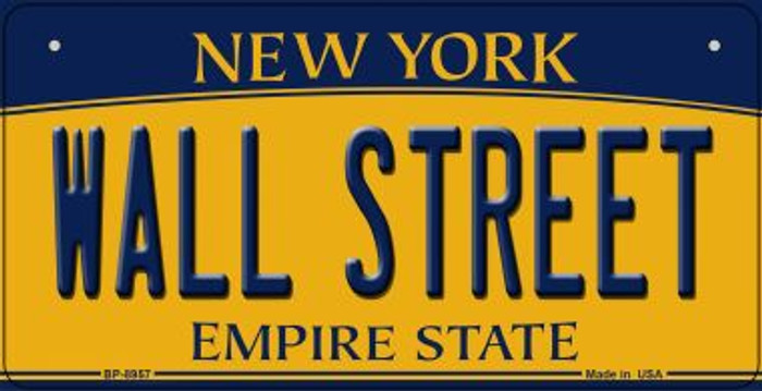 Wall Street New York Novelty Metal Bicycle Plate BP-8957