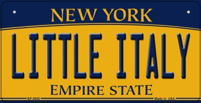 Little Italy New York Novelty Metal Bicycle Plate BP-8958